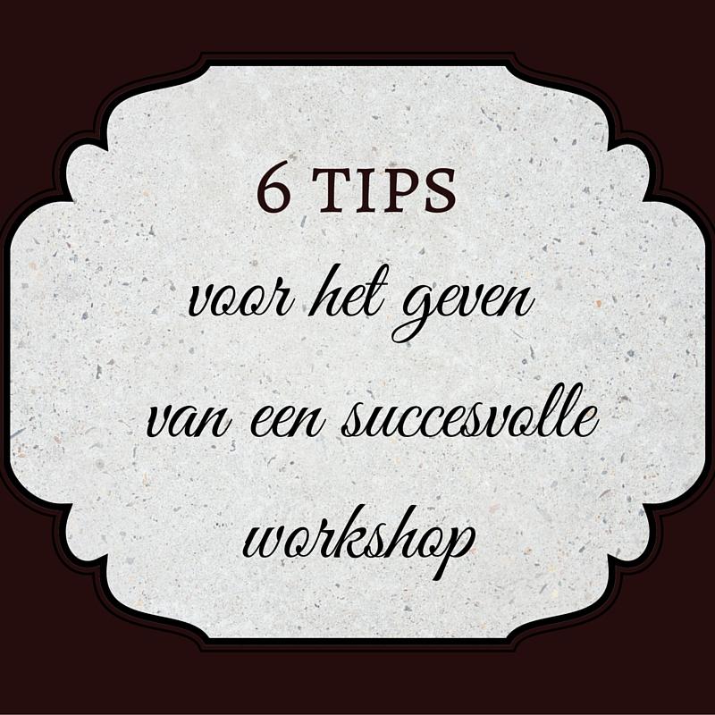 een succesvolle workshop dat doe je zo
